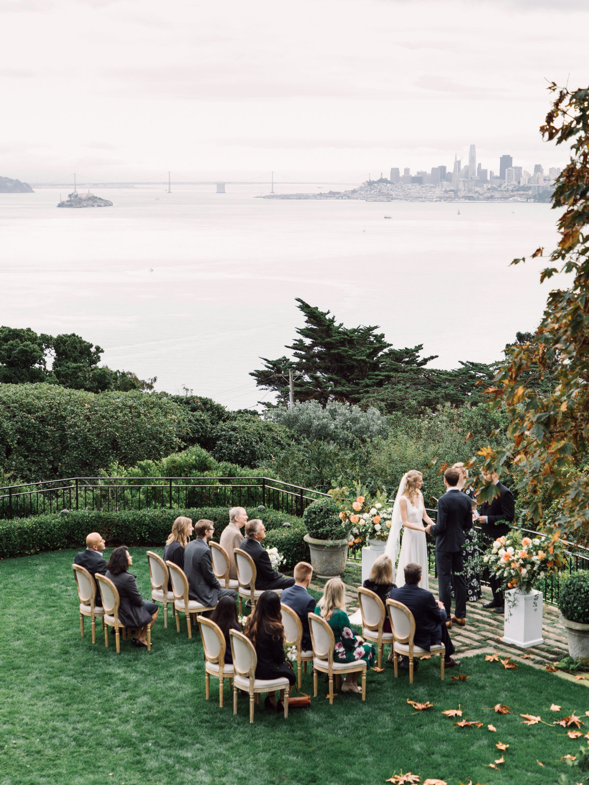 Wedding by Jenny Schneider Events at a private residence in Marin County, California.