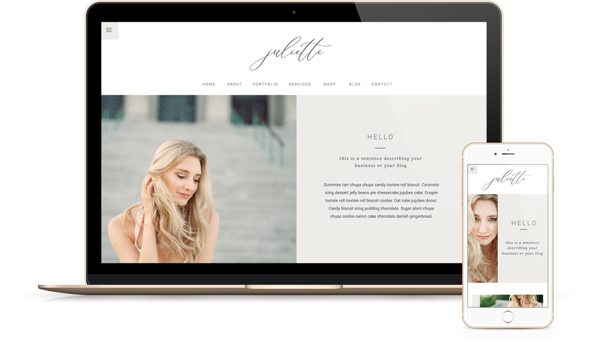 Juliette | Showit Website Templates | Showit Websites by Viva la Violet
