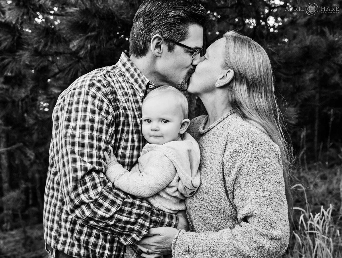 B&W Family Photography in Golden Colorado