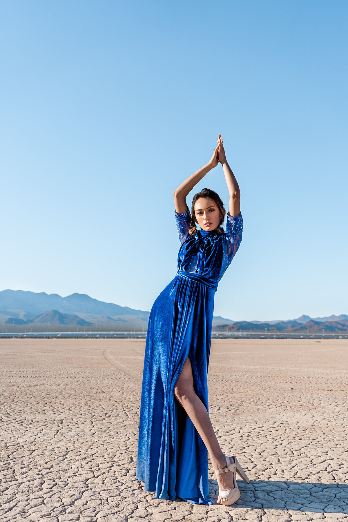 Project Obscura-blue dress fashion-Chloe Darling Photography