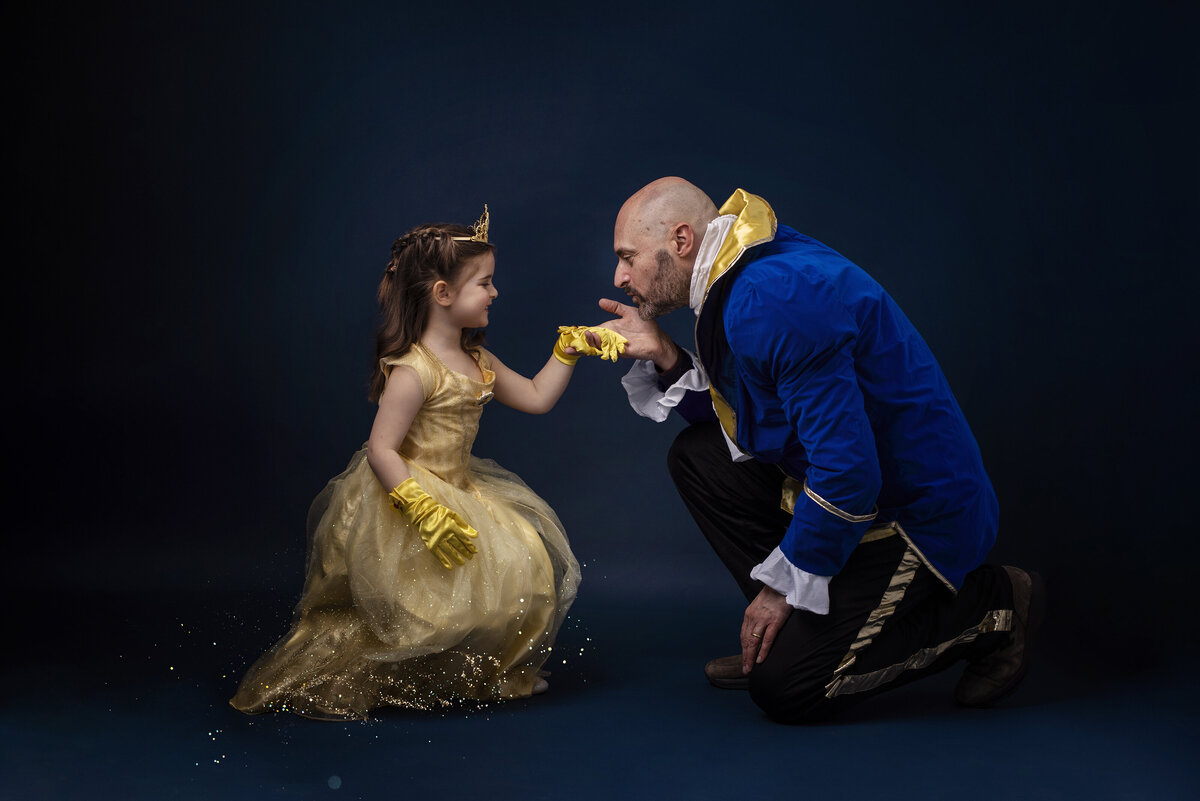 belle and the beast asking for a dance photo
