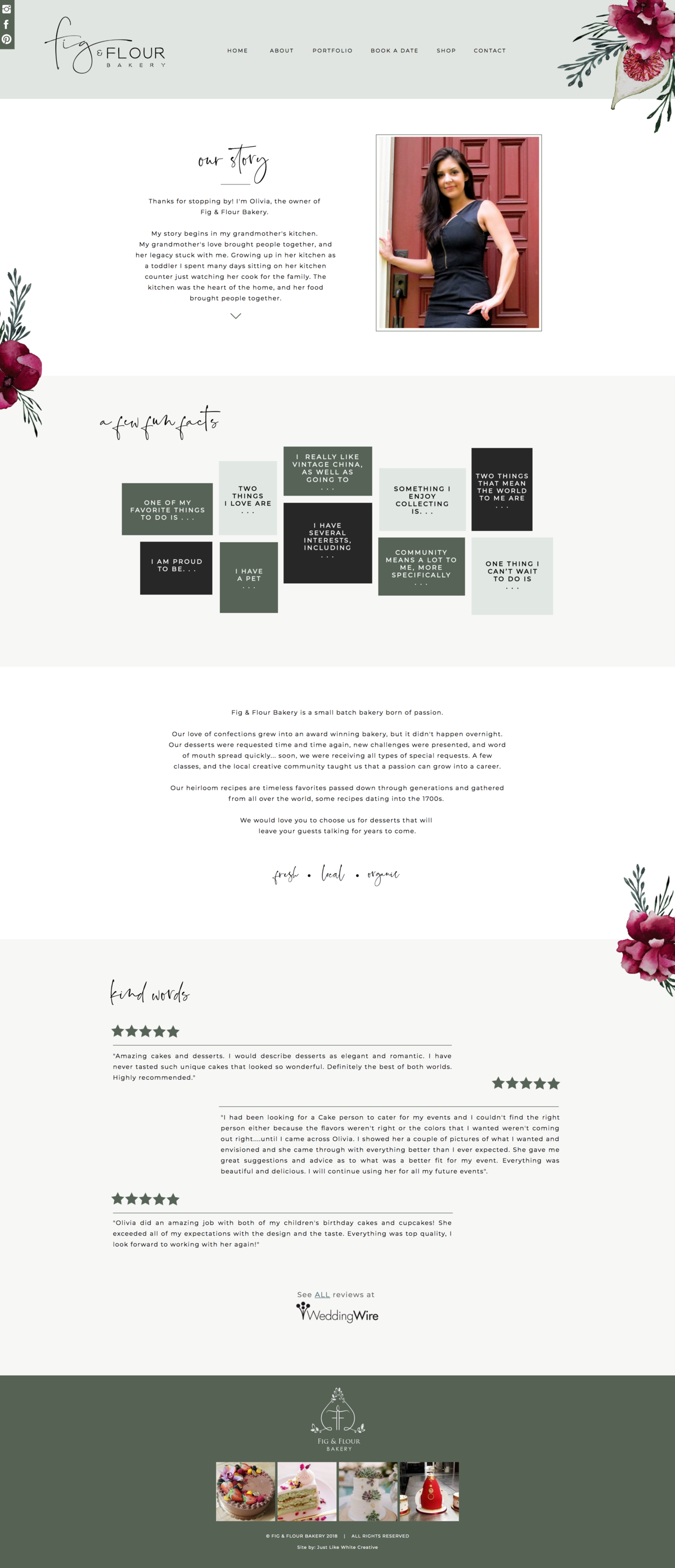 Flowery web design by Tribble Design Co.