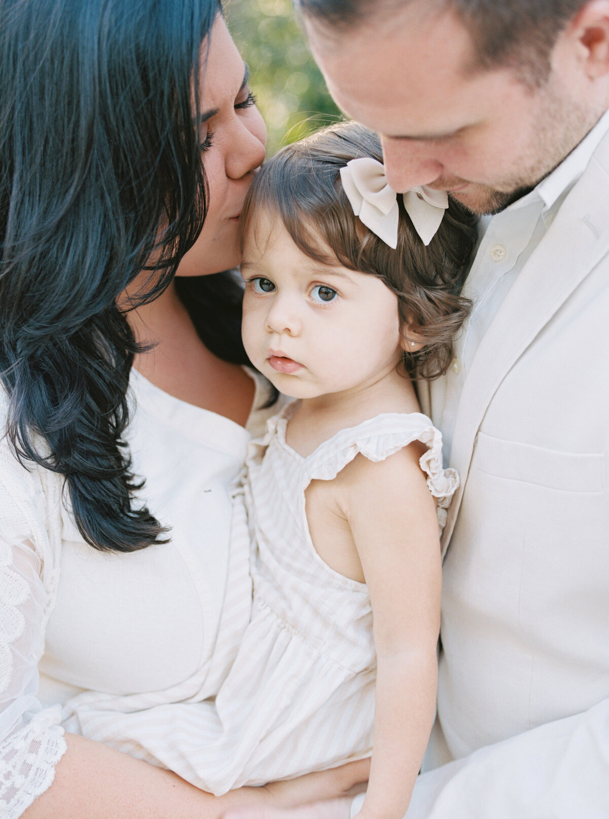 Natural Organic Field Earthy Neutral Family Session Jupiter Florida FIlm Photographer-12