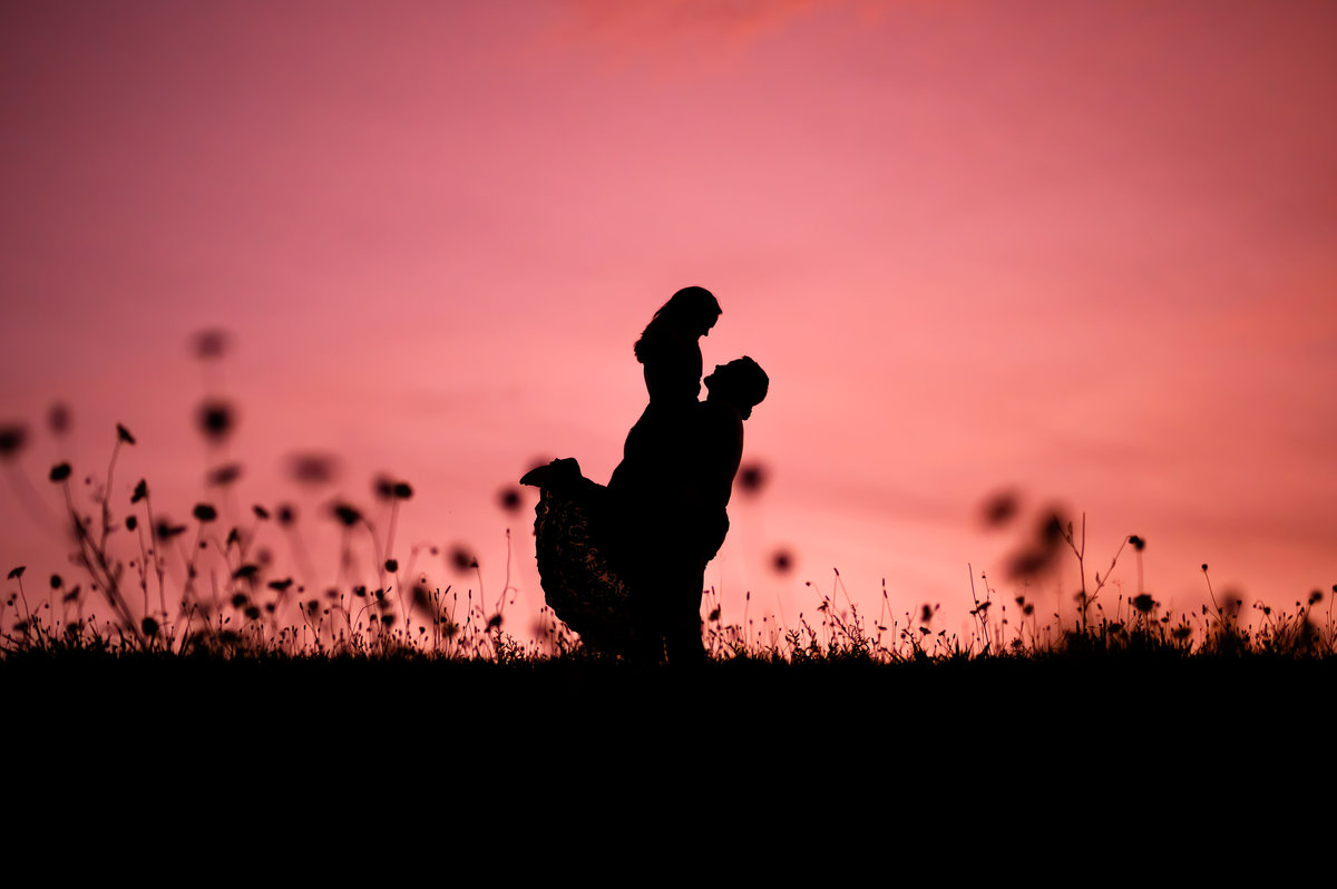 sunset-silhouette-engagement-photographer