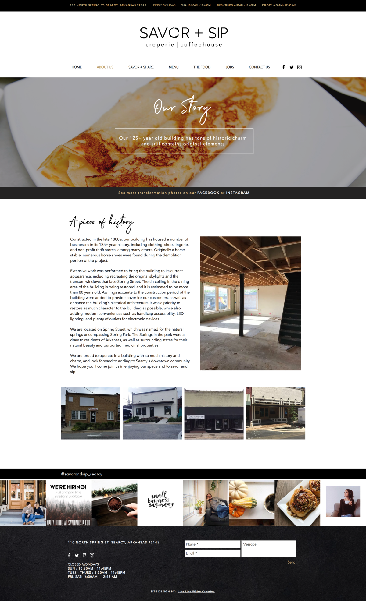 Design of coffee house and cafe website