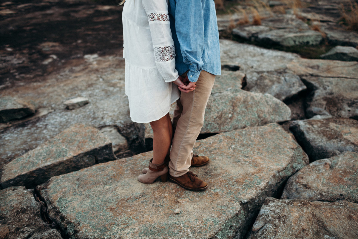 Arabia Mountain engagement session by Greenville wedding Photographer Simply Violet Photography