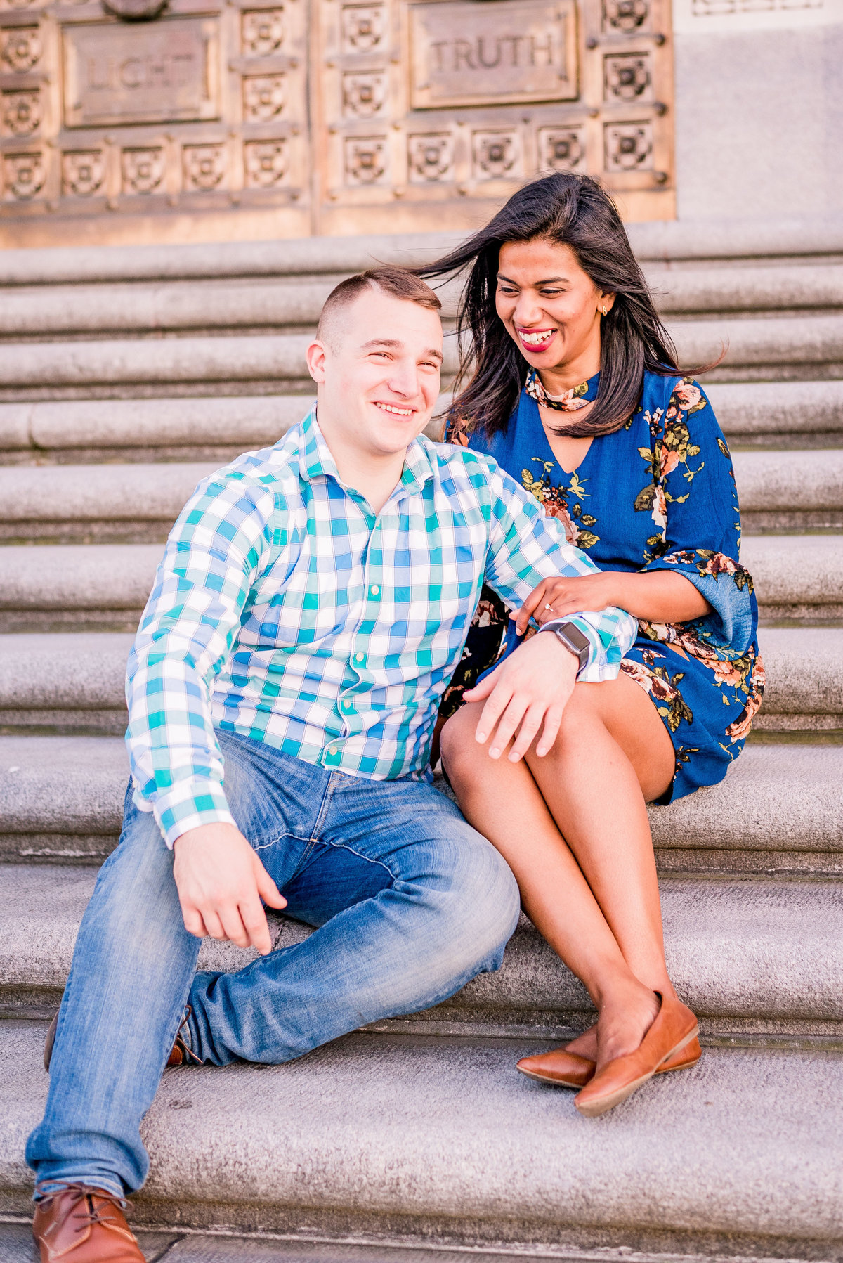 Engagement Photographer Couple Photographer Downtown Indianapolis Photographer-16