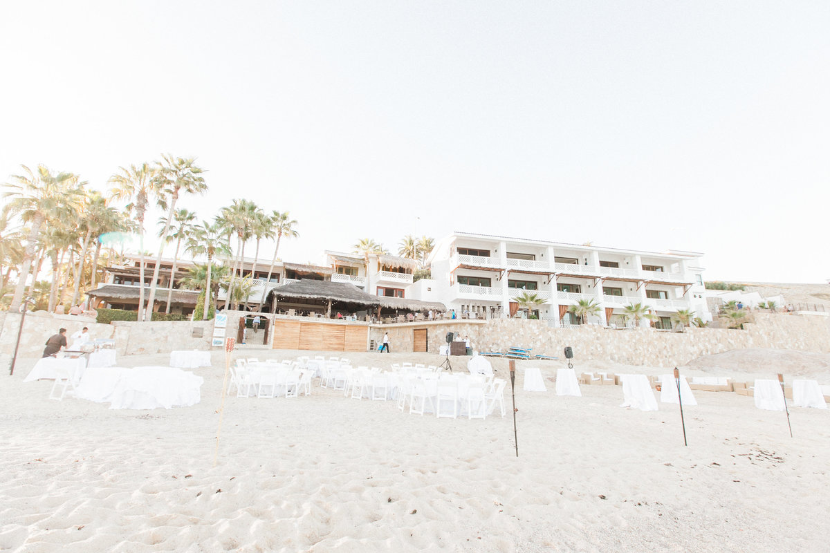 Cabo Surf Hotel Beach Wedding Reception