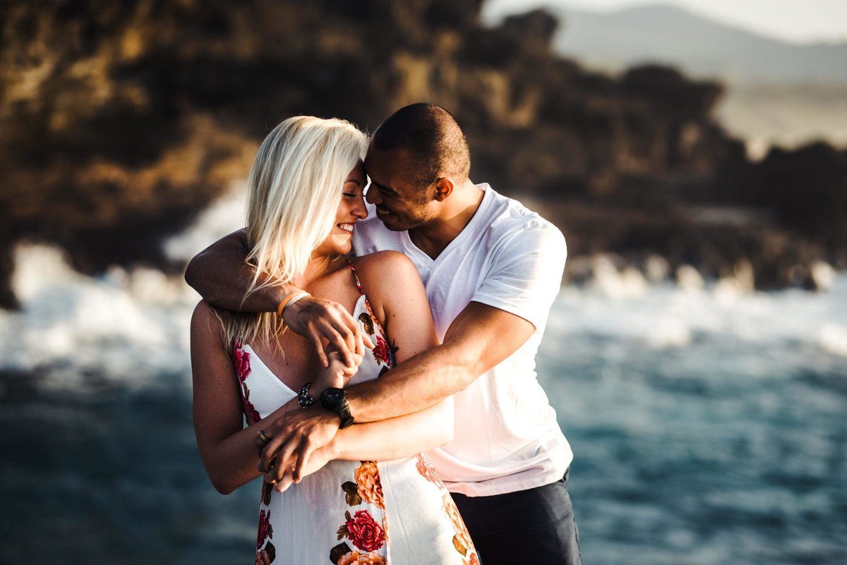 Eternity Beach Honolulu Hawaii Destination Engagement Session - 24