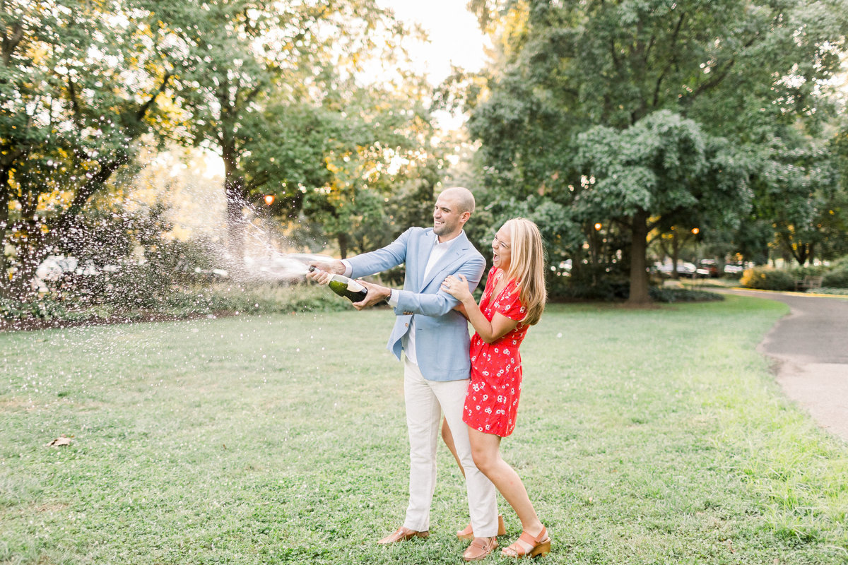 This summer Philadelphia engagement session was photographed by Caroline Morris Photography