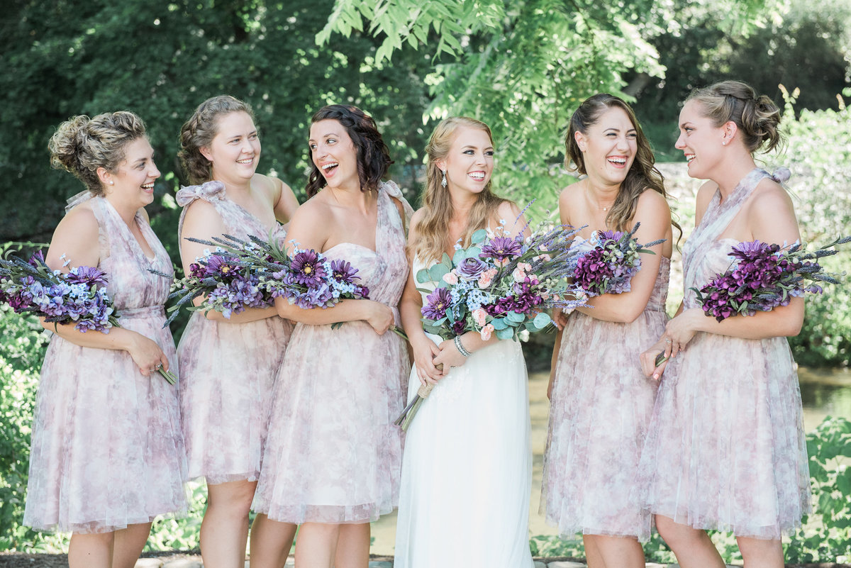 bride and bridesmaids harmony forge inn