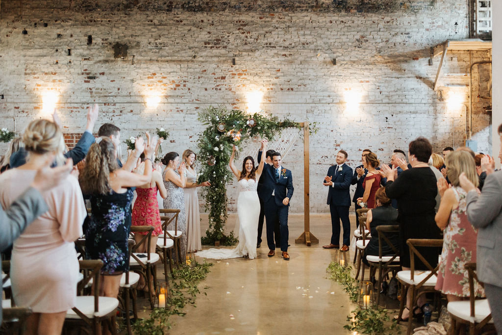 raw industrial wedding ceremony