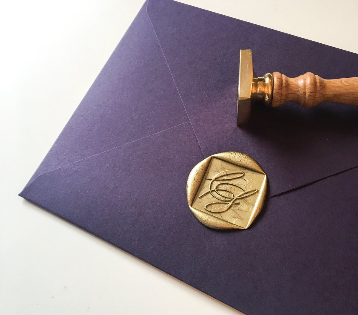 Custom wax seal designed  by Jenni Liandu Calligraphy