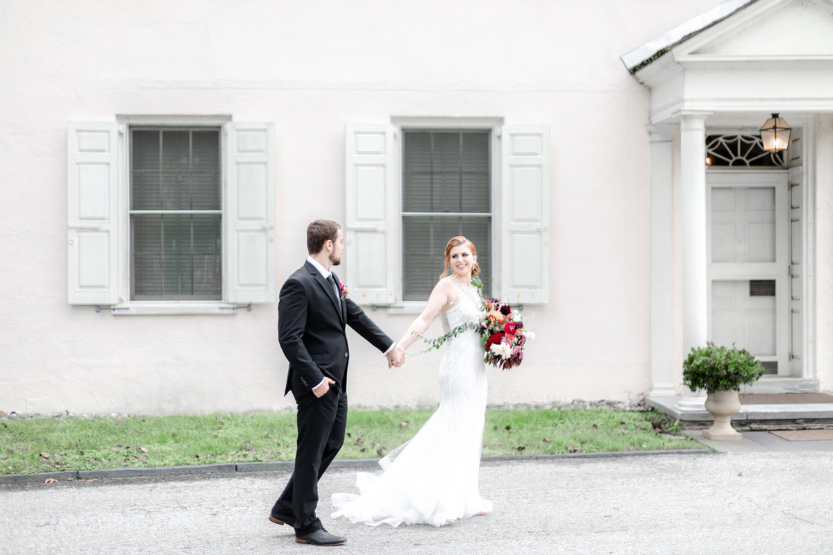 Bride and groom portraits at Wadsworth Mansion wedding