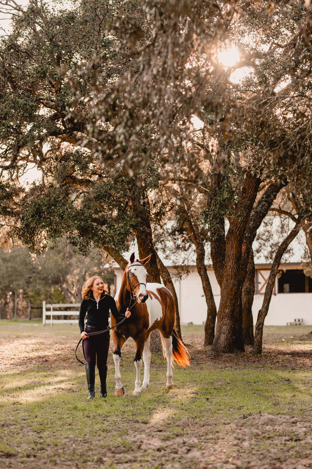 English horse and rider have photoshoot together in Ocala, FL with pro photographer