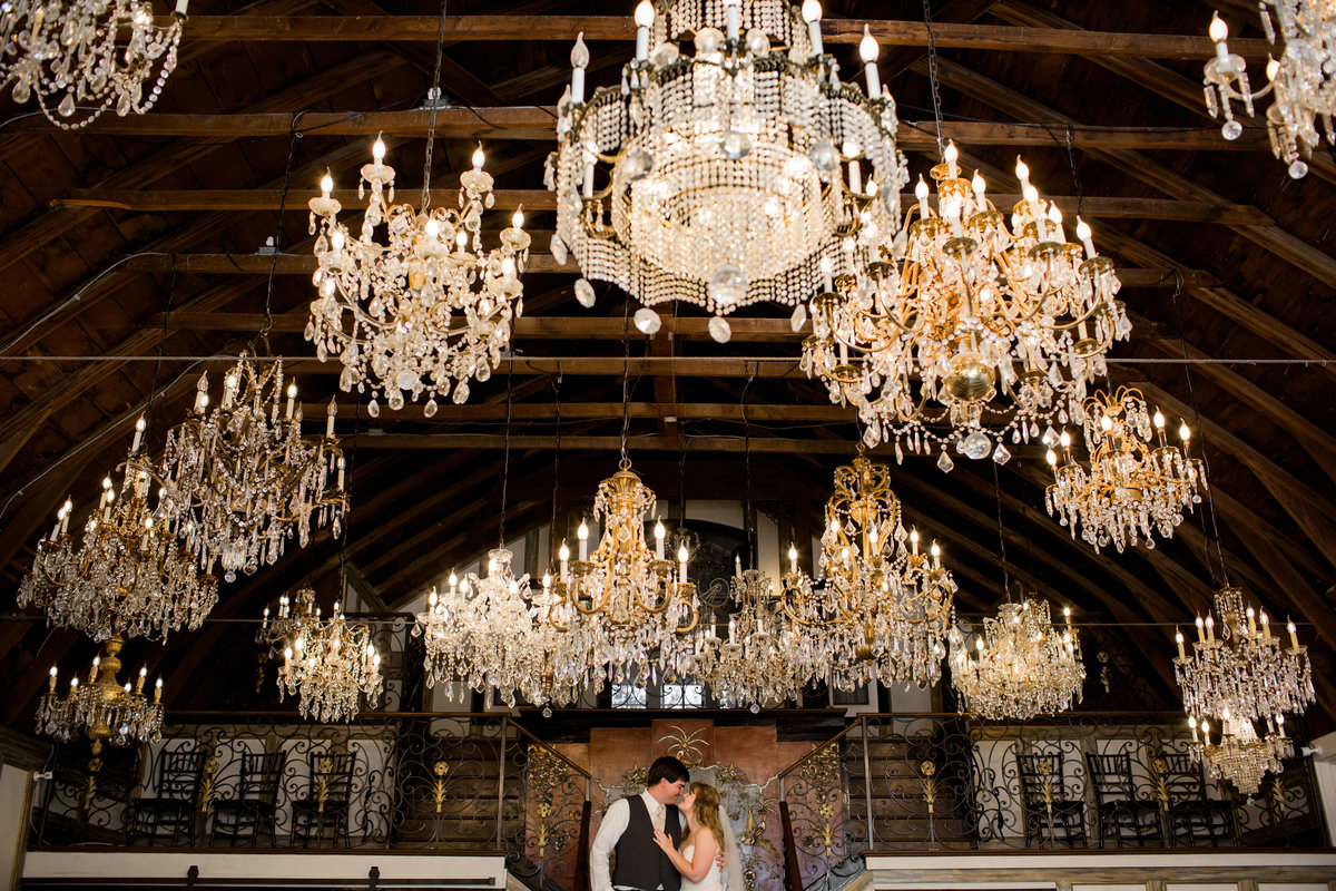 Colorado wedding pictures in Chandelier Barn at Lionsgate Event Center