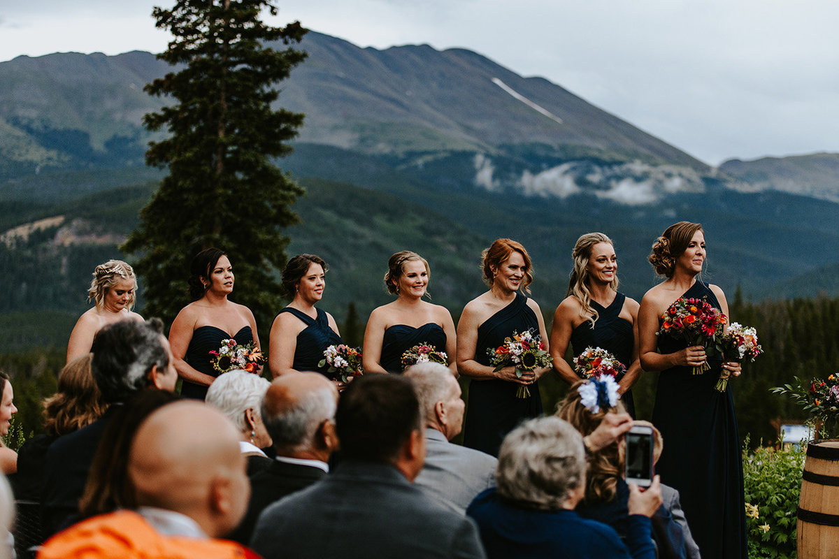 bridesmaids at Ten Mile Station in Breckenridge CO