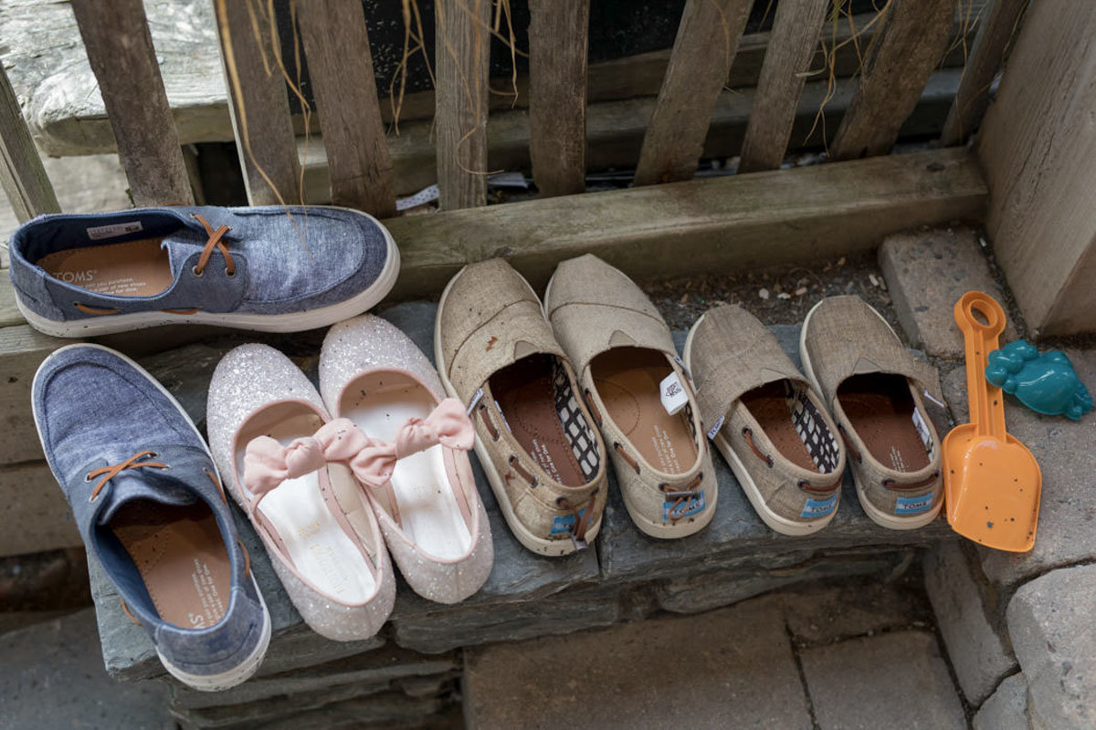 Kids shoes at Tunnels Beaches Wedding