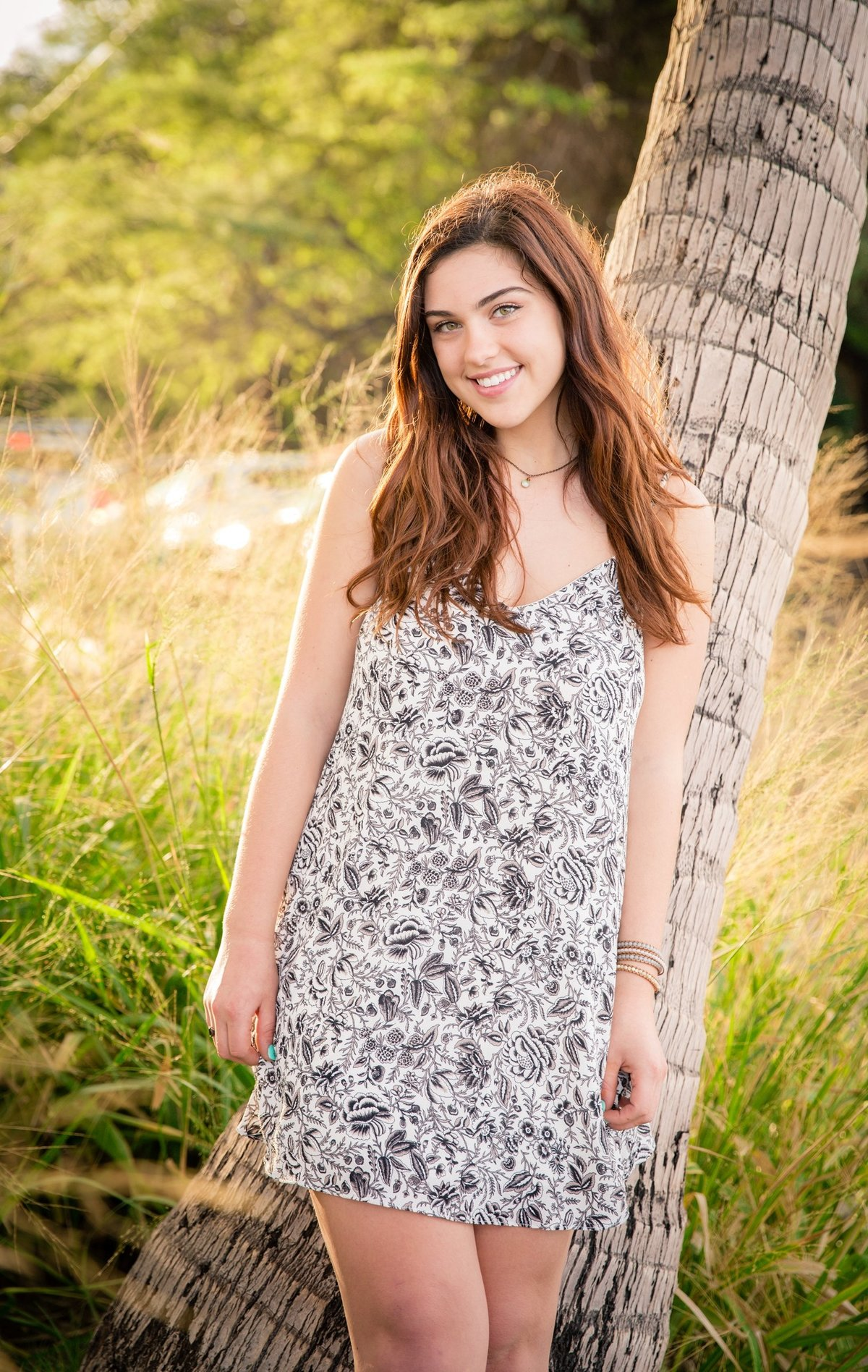 Capture Aloha Photography, Maui Senior Portrait Photography with  Beautiful Lady under the coconut tree with bunch of grass