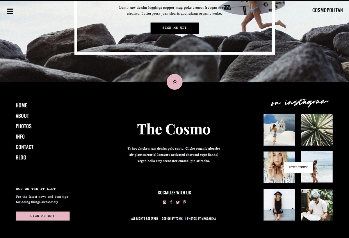 Cosmo Footer