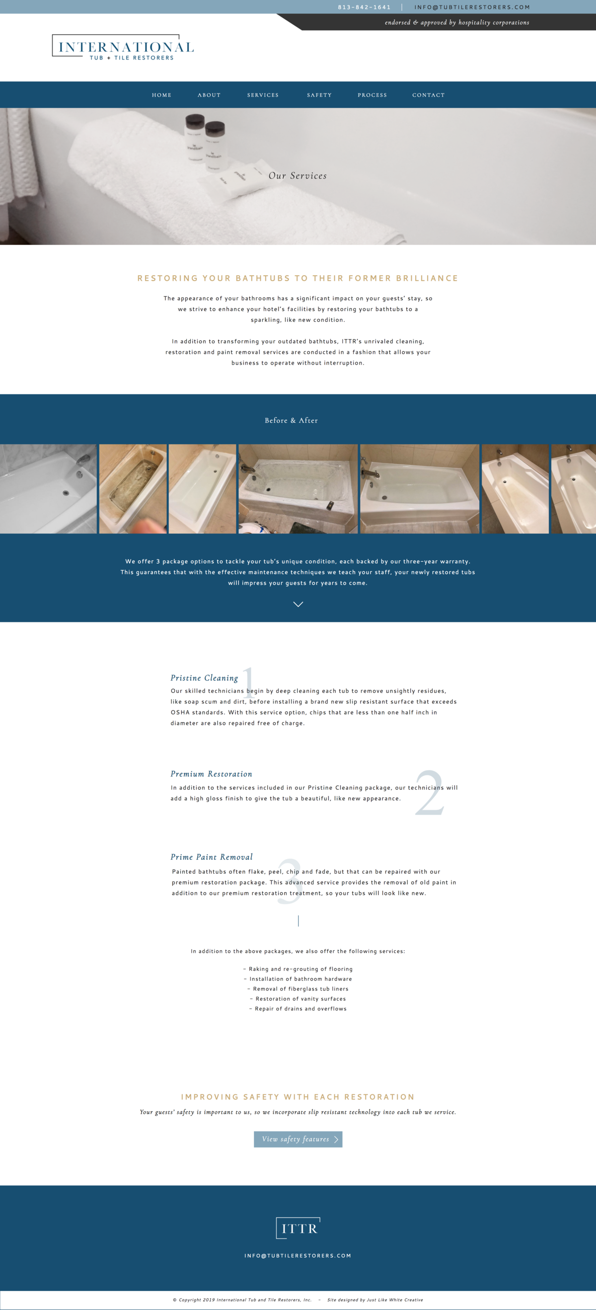 Professional website design by Tribble Design Co.