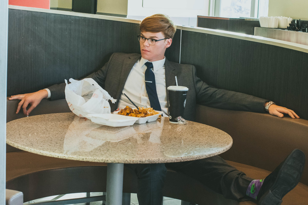 Senior Session Panda Express Suit and Tie