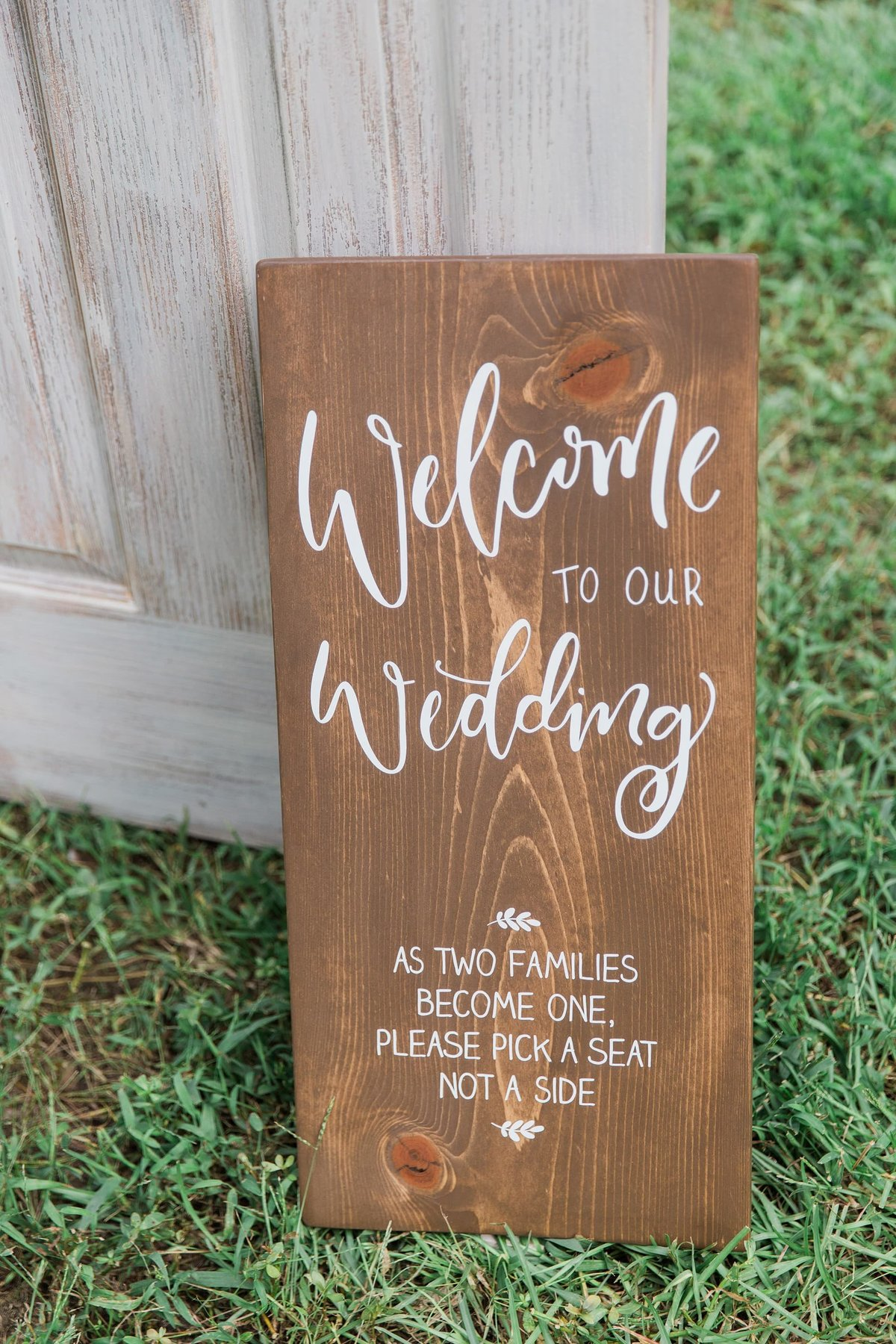 welcome wedding sign calligraphy
