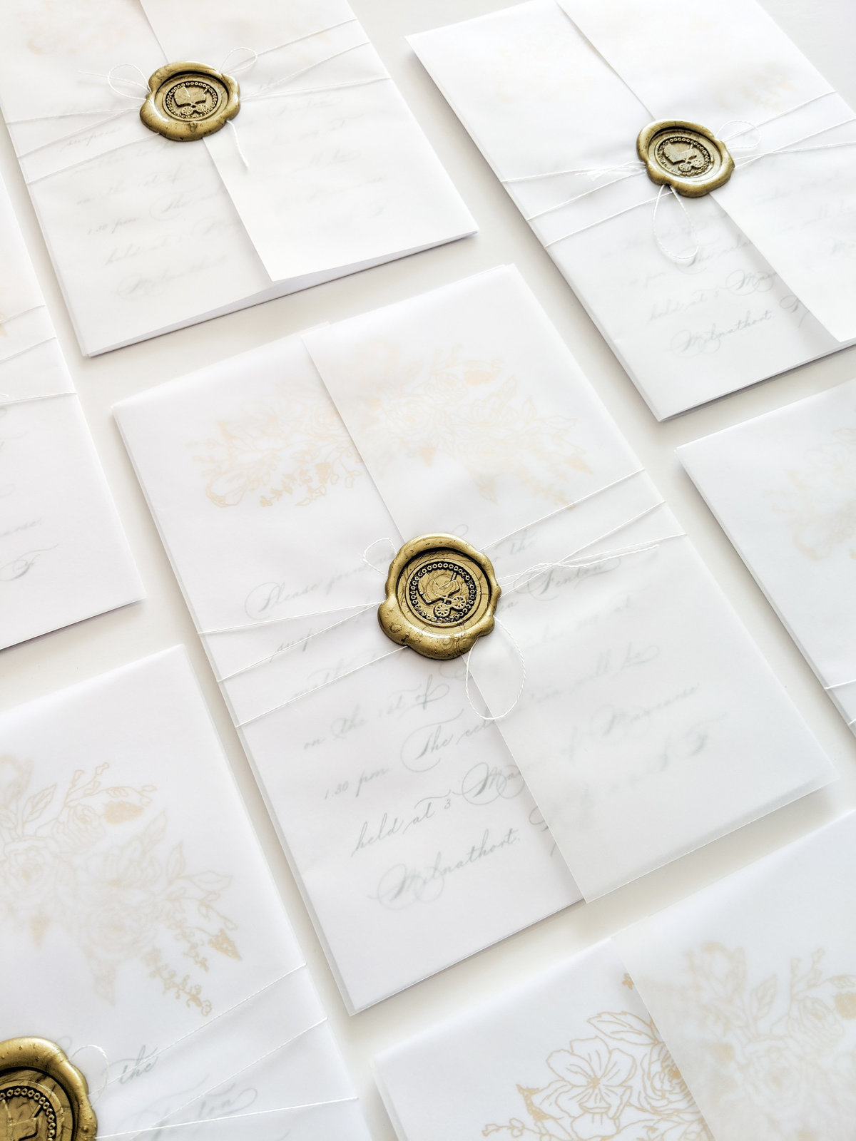 Wax seal baby shower invitations