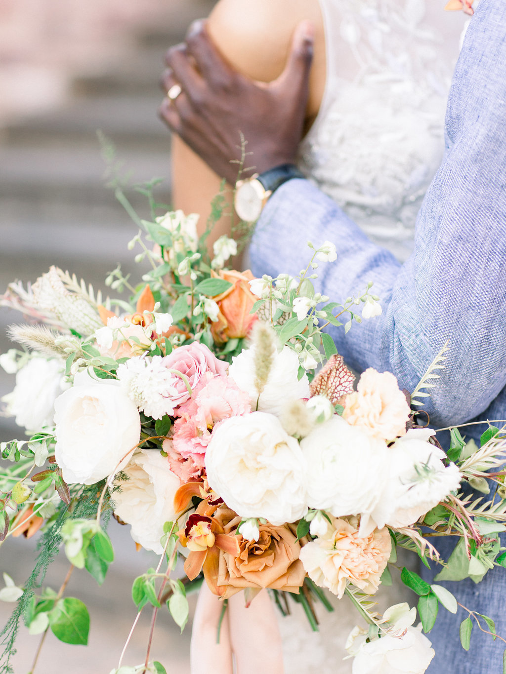 Summer Wedding Tyler Gardens Philadelphia bridal bouquet