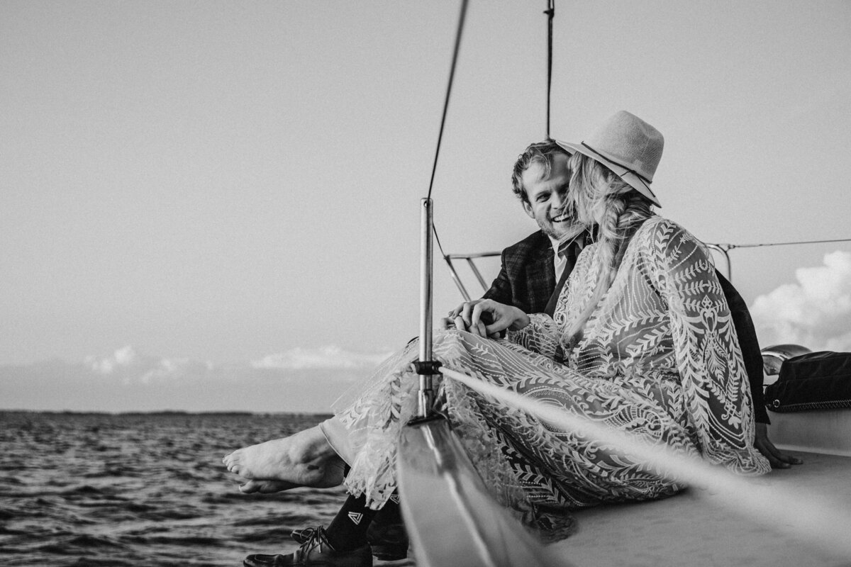 Adventure Elopement Sailboat Ocean Sunset 2
