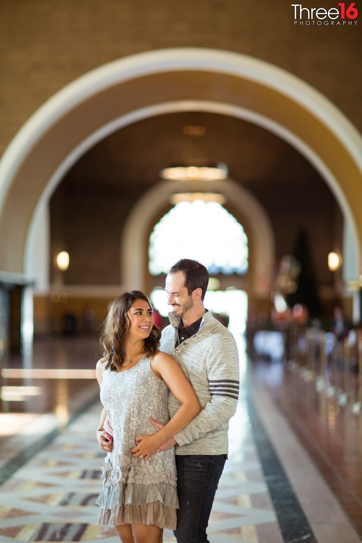 Los Angeles Union Station Engagement Photos LA County Wedding