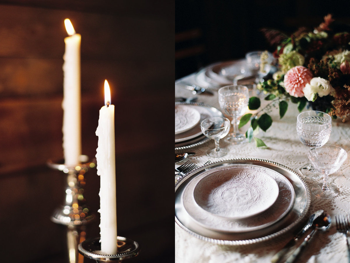 34 Paws Up Wedding, candlelight, Barn Wedding
