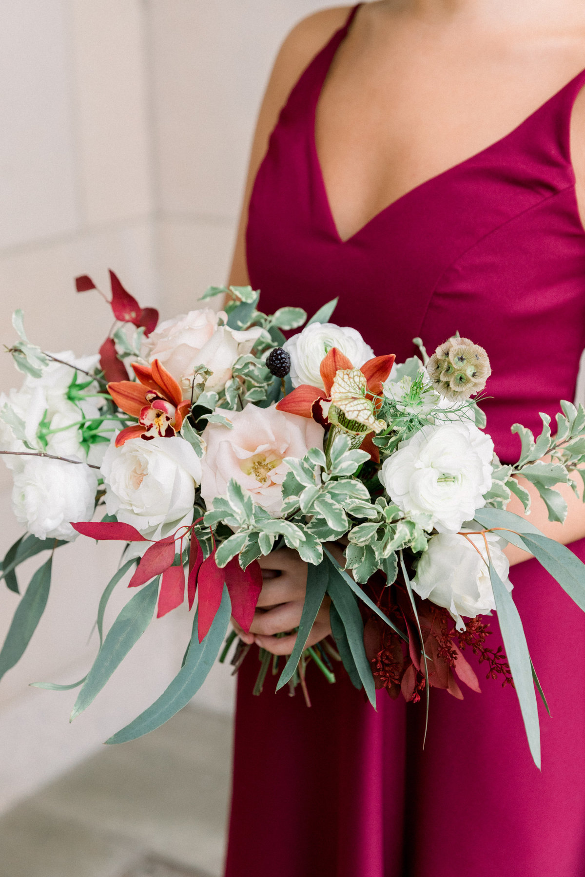 bridesmaid bouquet florist Winterthur wedding