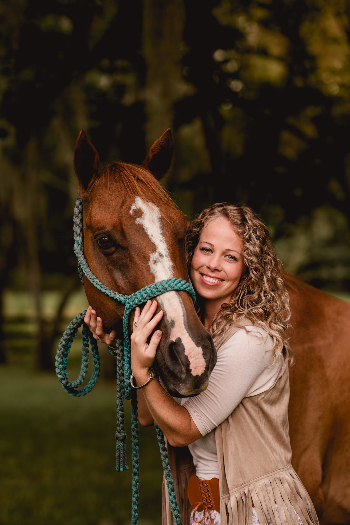 Barrel racing horse with his rider in North Florida by equine photographer.