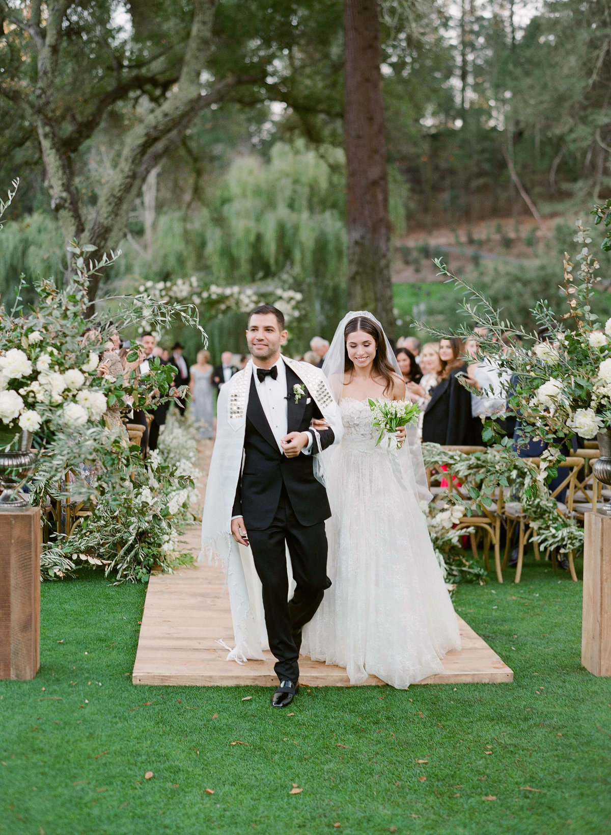 76-KTMerry-weddings-ceremony-recessional-Meadowood-Napa-Valley