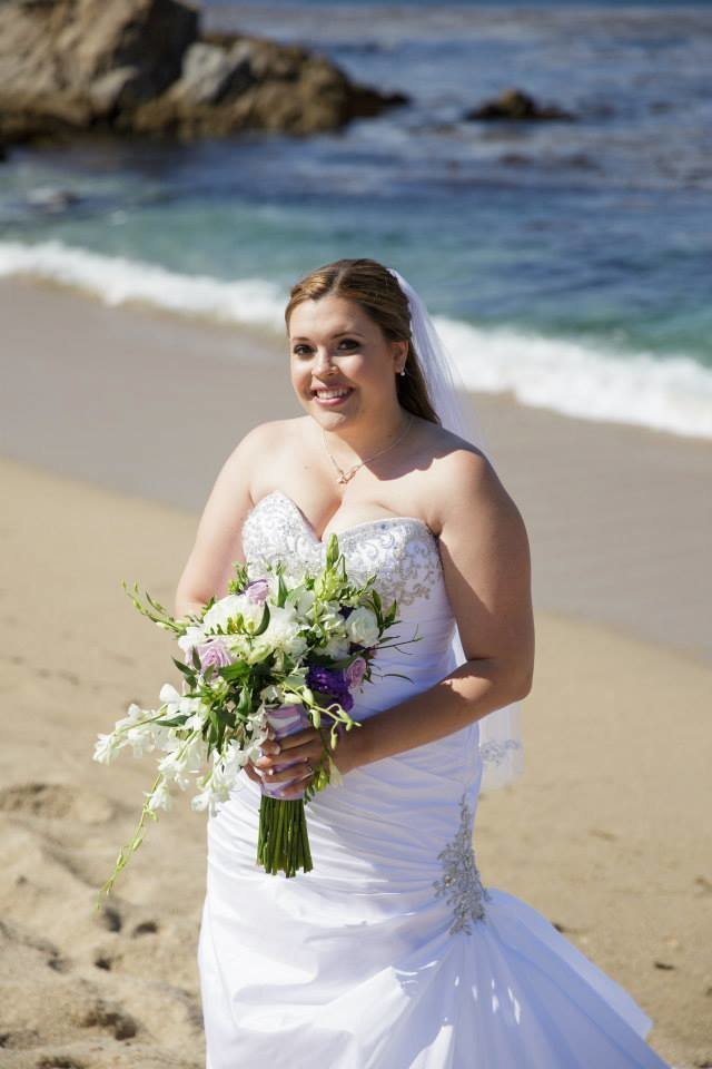 Carmel Beach Wedding Natalie Setareh Makeup Artist Bride Boquet
