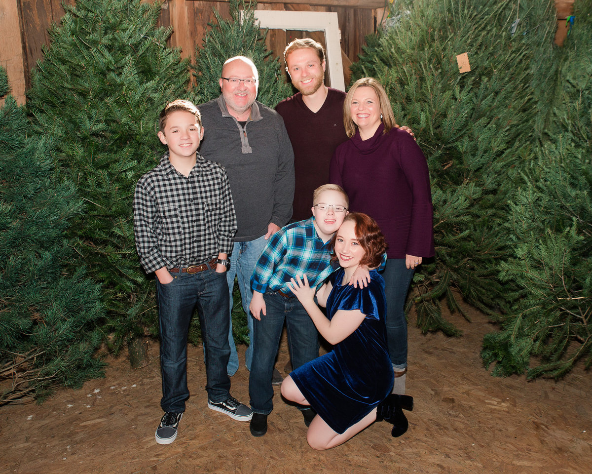 Christmas tree farm family picture