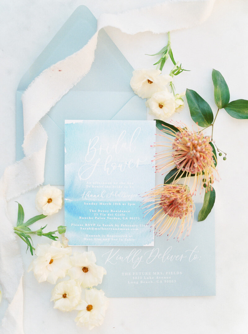 pirouettepaper.com | Wedding Stationery, Signage and Invitations | Pirouette Paper Company | Seaside Bridal Shower |  Christine Skari Photography_ (16)