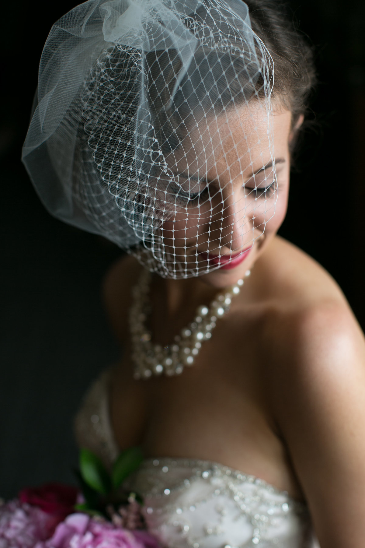 Beautiful Bridal portrait with birdcage