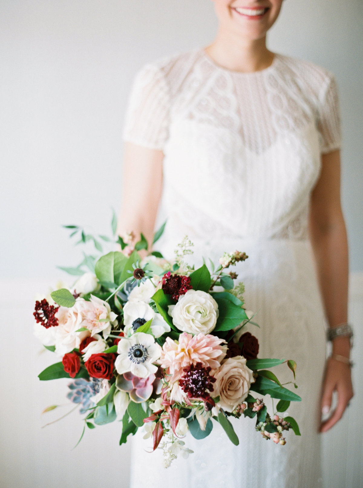 burgundy and blush bouquet studio fleurette