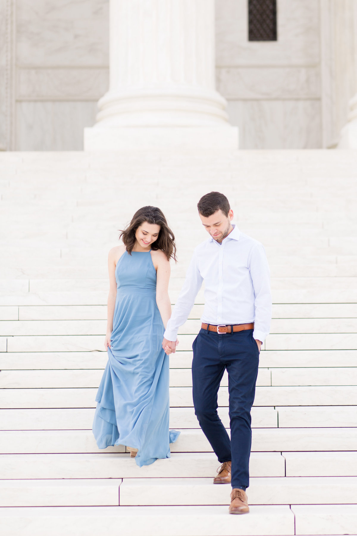 Capitol Building Engagement Session in DC with a visit to Supreme Court Building and Library of Congress | DC Wedding Photographer | Taylor Rose Photography-36