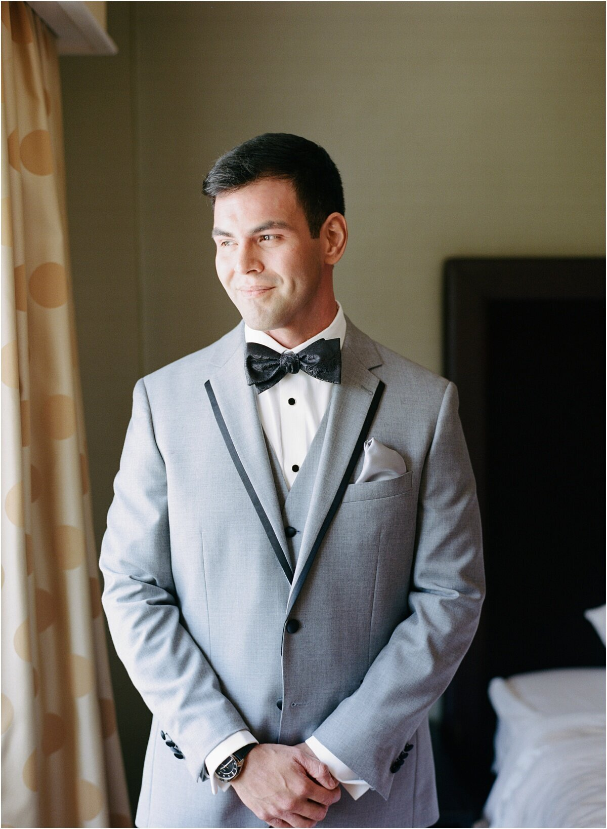 grooms portraits  at portola hotel and spa monterey california