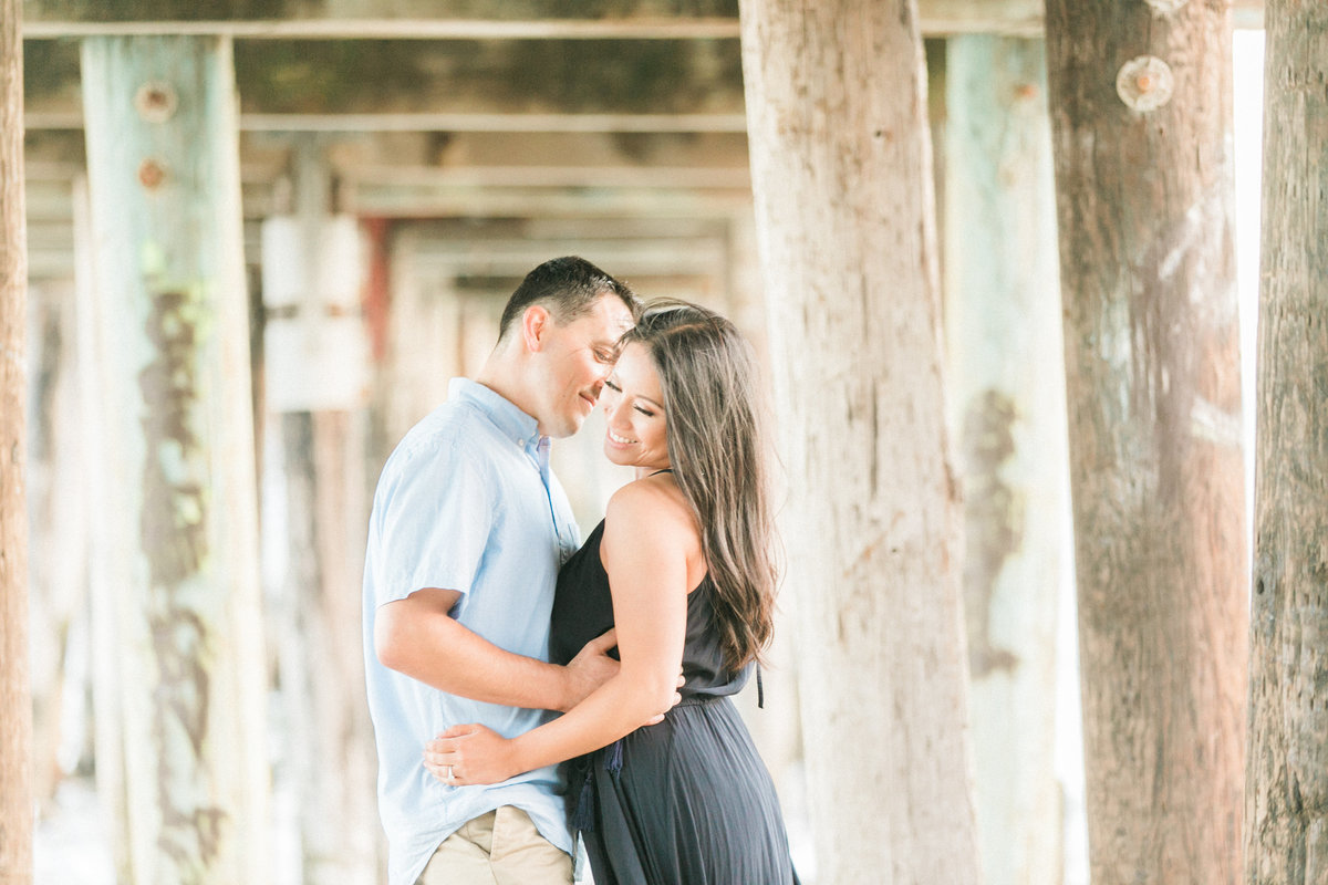 Beach Engagement Under the Pier Film Photography Santa Cruz
