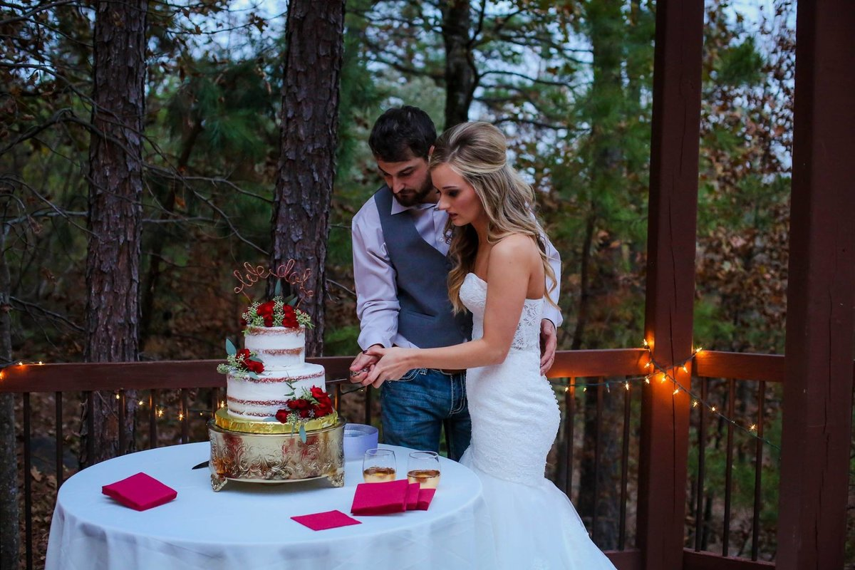 wedding cake by Stephanie Boyd Cakes / Megan Threet Wilson Photography