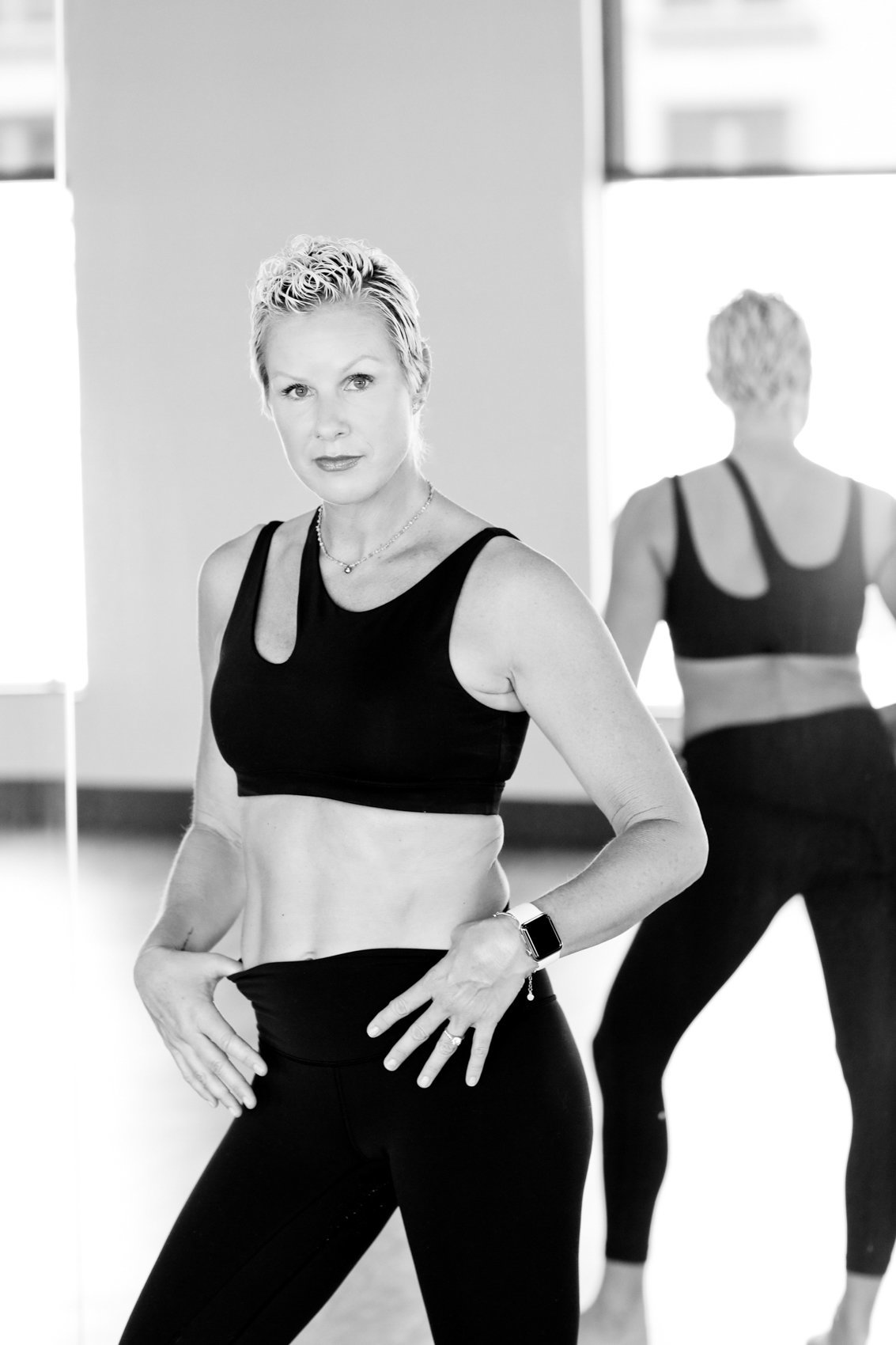 Dance studio photoshoot, bay area fitness instructor