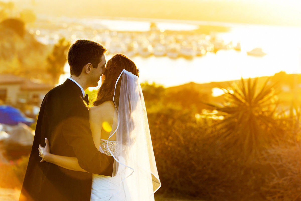 whimsical couple portrait sunset hyatt regency newport beach
