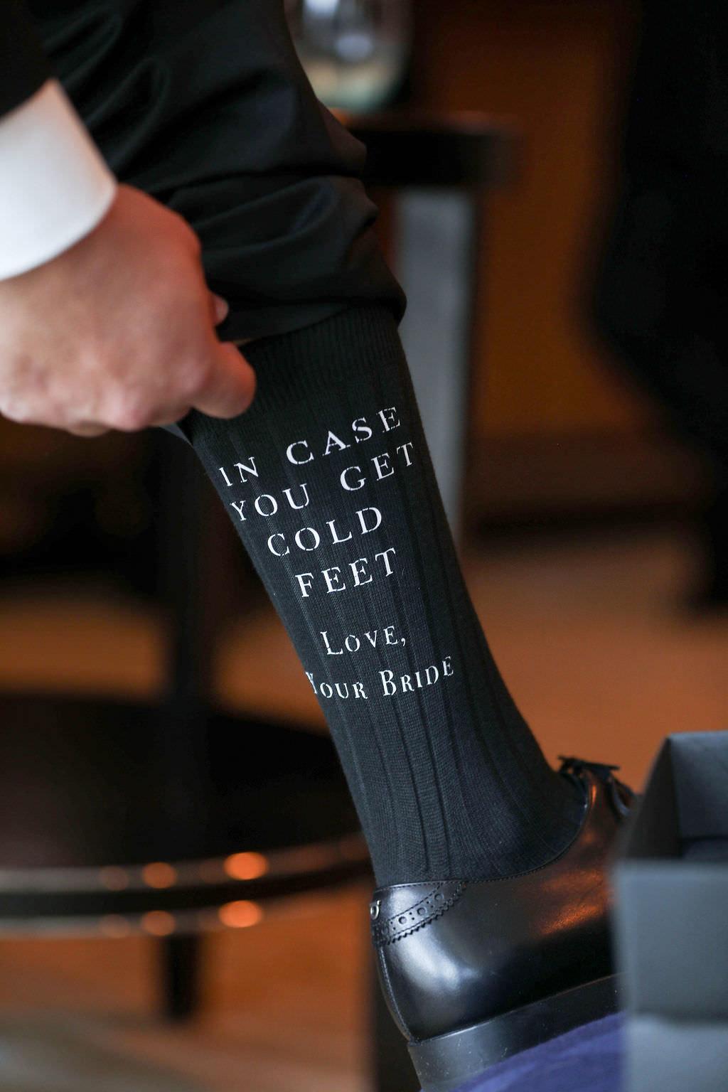 In case you get cold feet grooms socks