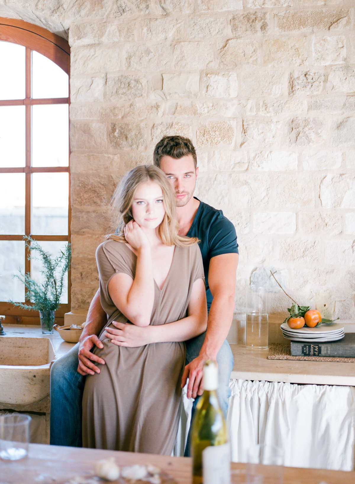 California Kitchen Engagement Session