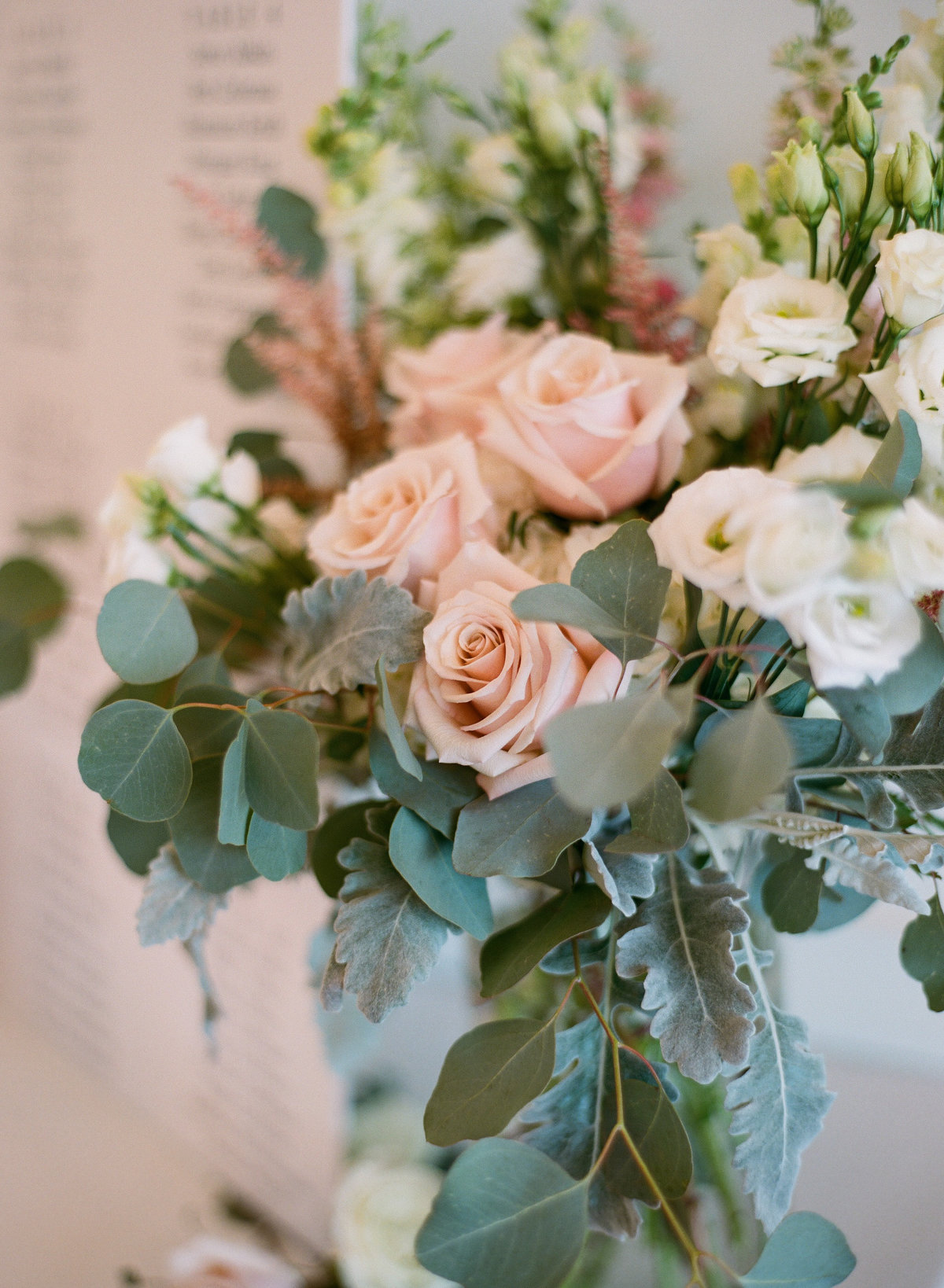 Blush florals with eucalyptus