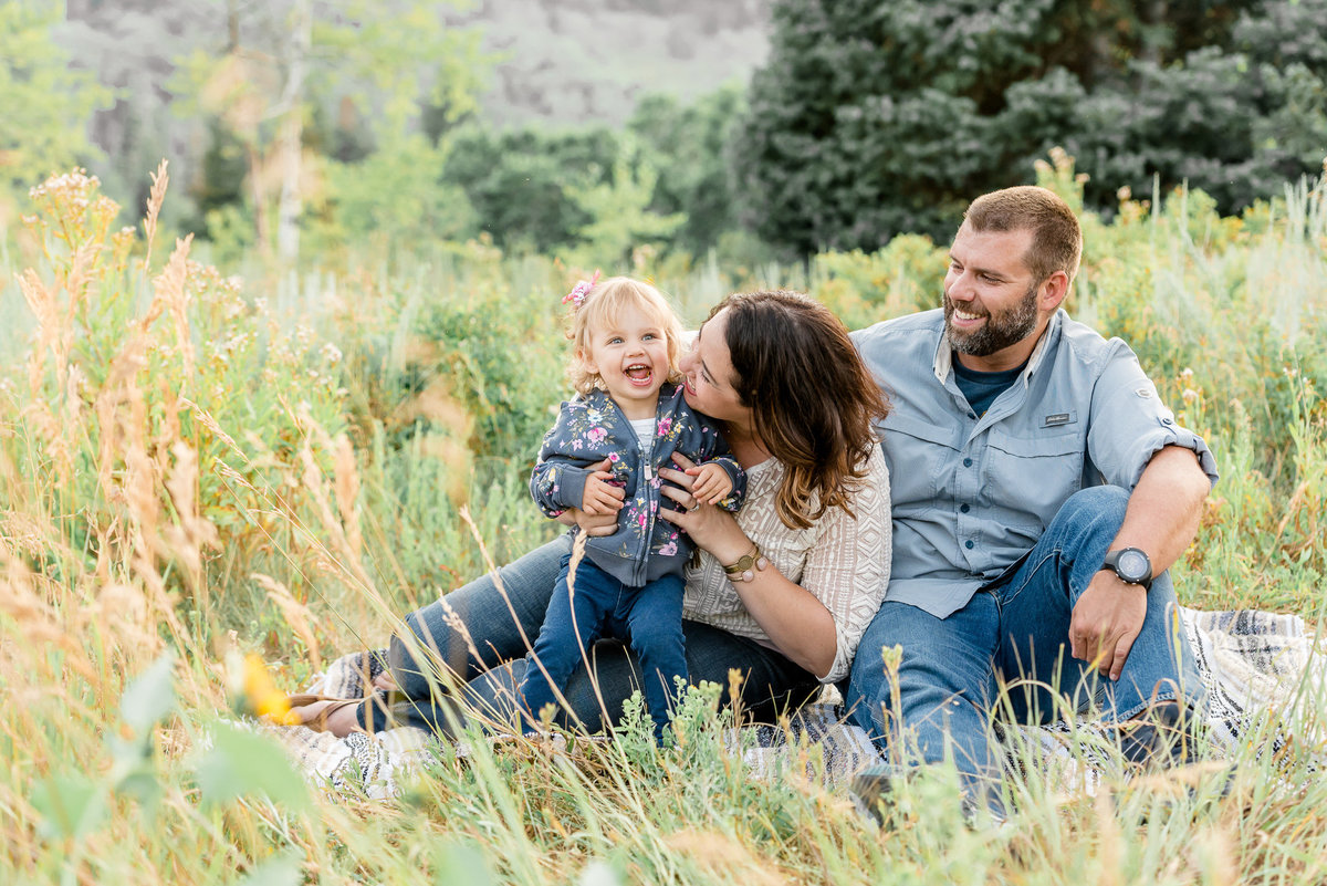 Snowbasin Utah outdoor family photography candid picture